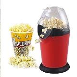 Elektrischer Heißluft Popcorn Hersteller Retro Machen Sie köstliche gesunde fettfreie Heißluft Kino Popcorn Zuhause in nur 3 Minuten - Komplett mit Maßschaufel,Red