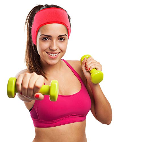 Unisex (Ohrenwärmer) Ski-Stirnband Sport Outdoor Ohrenschützer |Mode Einfarbig Ohrenschützer | innovativer Ohrenschutz hält die Ohren warm im Winter | Plüsch Tragbar Ohrwärmer (rot)