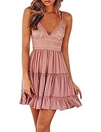 Mini vestido sin respaldo de las mujeres de verano, Vestido de fiesta de noche Vestido