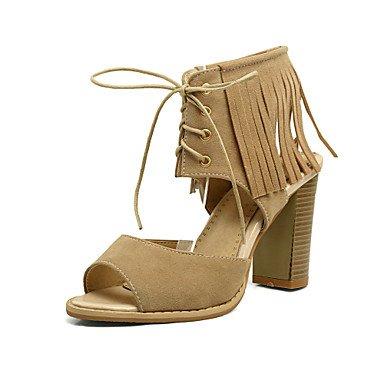 LvYuan sandali scarpe caduta del club primavera estate festa di nozze cinturino alla caviglia in pile gladiatore&serata informale tacco Yellow