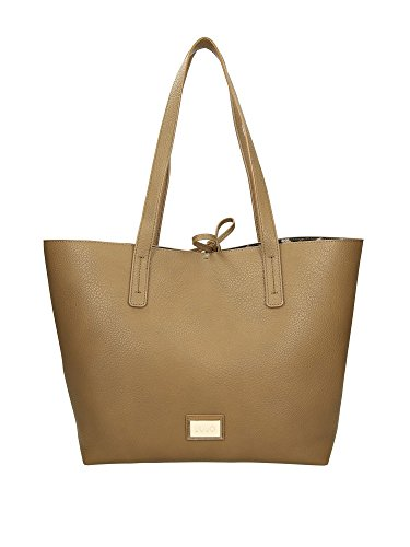 Borsa donna liu-jo shopping orizz. mod. narciso colore marrone con bustina b18lj33
