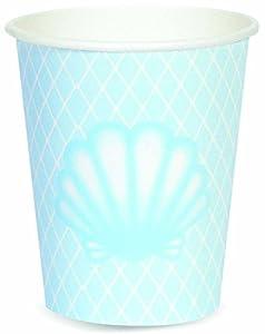 Forum Novelties x80663 - Vasos de papel, diseño de sirenas, multicolor
