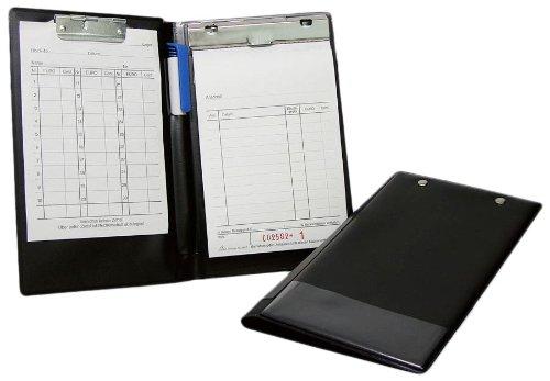 Wedo 57101 Kassenblockhülle Kassenblockmappe (A6, Kunststoff) schwarz