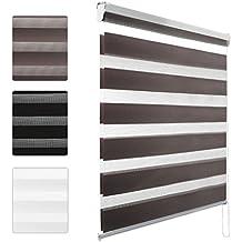 Kinlo® 60/80/90/100* 150cm–estor veneciano opaco sin perforación) ni corona de poliéster para ventana de oficina/salón/dormitorio, poliéster, gris, 80*150CM