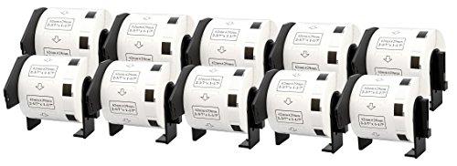 10x Brother DK-11209 29 x 62 mm Rollos de Etiquetas de dirección (800 Etiquetas por Rollo) compatibles para Brother P-Touch QL-1050, QL-1050N, QL-1060N, QL-500, QL-500A, QL-500BS, QL-500BW, QL-550, QL-560, QL-560VP, QL-560YX, QL-570, QL-580, QL-580N, QL-650TD, QL-700, QL-710W, QL-720NW Impresoras de etiquetas