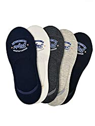 VINENZIA 5 Pair cotton no show, loafer socks unisex socks