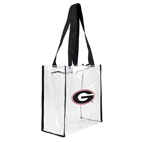 ncaa-georgia-bulldogs-square-stadium-tote-115-x-55-x-115-inch-clear-by-littlearth