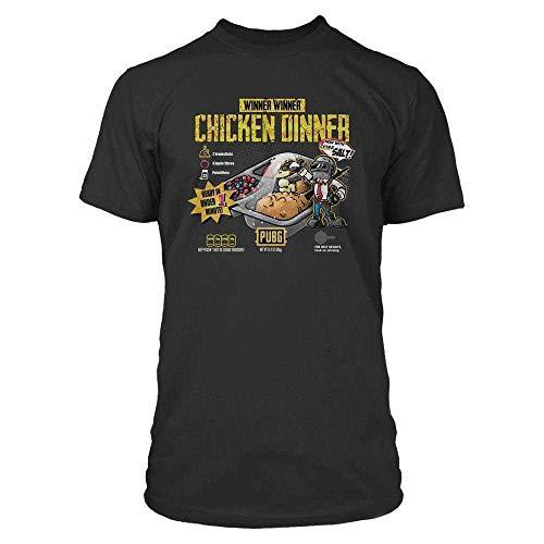 Playerunknown's Battlegrounds PUBG - Cuisine - Chicken Dinner Camiseta Negro XXL