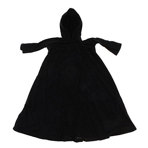 MagiDeal 1/6 Schwarz Halloween Umhang Kostüm für 12 -