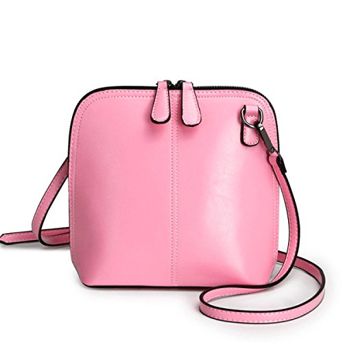 WU Zhi Lady In Pelle Borsa A Tracolla Diagonale Pink