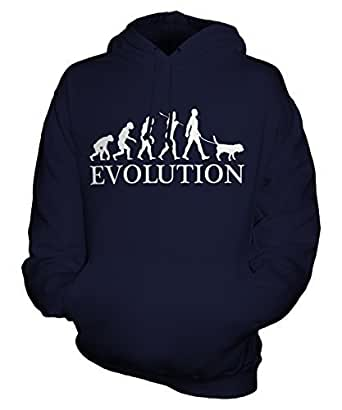 Beagle Evolution of Man - Unisex Hoodie - Mens/Womens/Ladies, Size X-Small, Colour Blueberry Bean