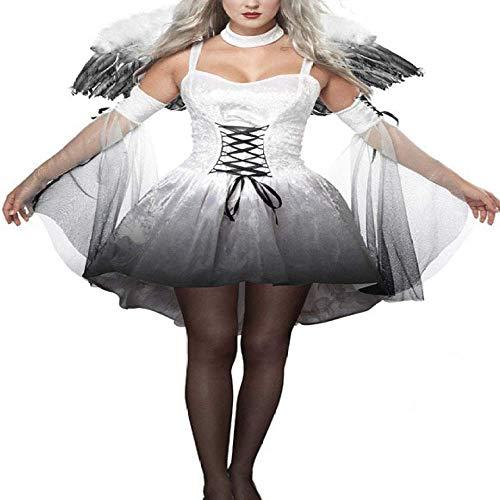 XIEPEI 2019 Halloween-Kostüm für Damen, sexy, dunkler Engel Gr. Medium, (Dunkle Zigeuner Kostüm)