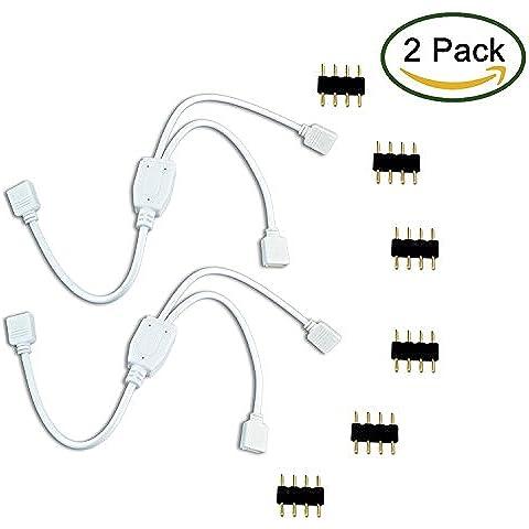 LitaElek - Cable divisor de RGB para tira de luces led de 4 pines, 12.00 voltsV