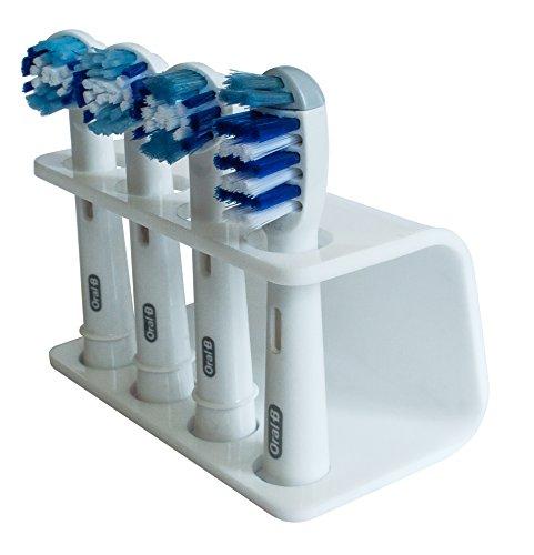 Seemii - Support tête Brosse à Dents électrique - Plastique, pour 2 ou 4 têtes, Blanc (4 têtes)