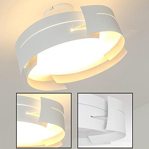 "Plafonnier Novara métal blanc design ""vague"""