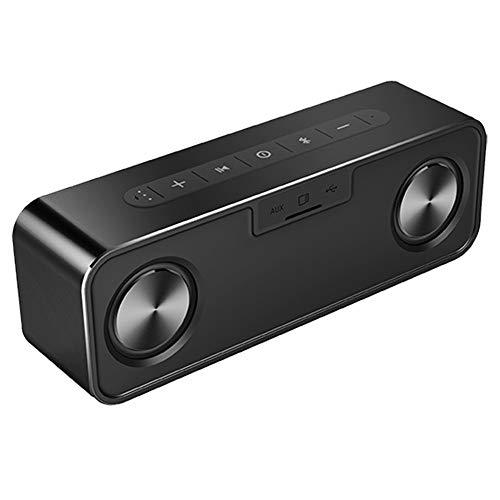 Bluetooth-Lautsprecher Metall Tragbare 30W Bluetooth-Lautsprecher Mit Drahtlosem Super-Basslautsprecher Bluetooth4.2 3D-Digital-Boombox-Sound-Lautsprecher, Schwarz