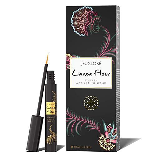 JEUXLORÉ - Lanox Fleur Premium Wimpernserum - 4 ml Eyelash Activating Serum für schöne, dichte Wimpern und Augenbrauen - hochwertig...