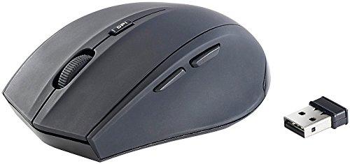 GeneralKeys Optische Funkmäuse: Geräuschlose Funkmaus FM-1600.gl, mit DPI-Umschalter (USB Funkmaus)
