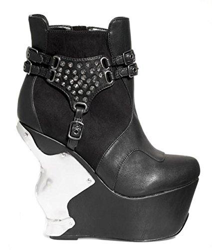 Hades Shoes, Damen Stiefel & Stiefeletten , schwarz - schwarz - Größe: 39 2/3 EU