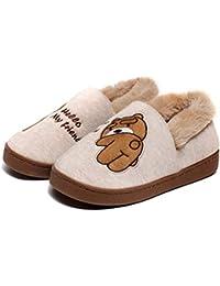 fcfdfe08f3f Lindo Unisex Niños Zapatillas de Estar por Casa Invierno Zapatillas  Interior Casa Caliente Zapatos Suave Algodón