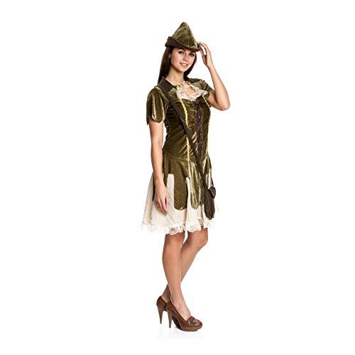 Kostümplanet Robin Hood Kostüm Damen Sexy Damen-Kostüm Faschingskostüm -