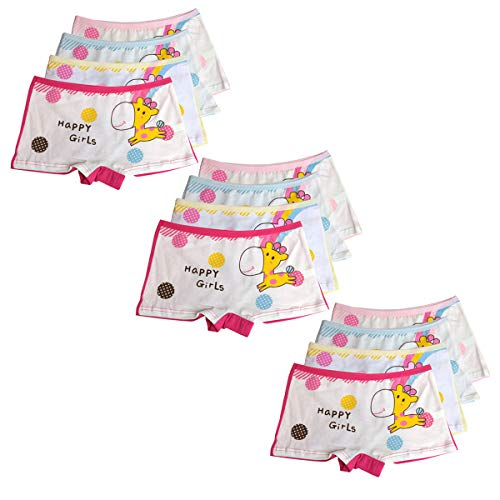 ussense 12er Pack Kinder Mädchen Unterhosen- Sportliche Mädchen Pantys Hipster Shorts Slips Schlüpfer Süß Unterwäsche Größe 2-12 Jahre(1-3Jahre,2030S) -