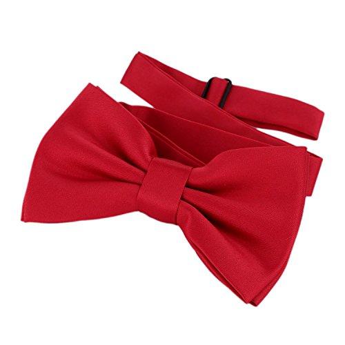 DonDon Papillon rosso scuro già legato e regolabile