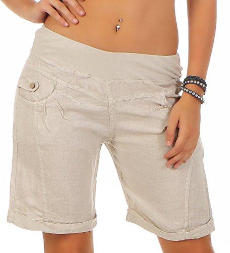 Damen Denim Shorts Stretch Kurzehose Bermudas Jeans Hose Sommer Freizeit Strand