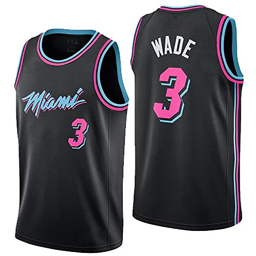 Nuova Uniforme da Basket, Miami Heat, No3, Wade, Jersey, Uniforme da Basket