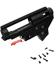 Metal Versión.2 Carcasa de Gearbox con 8mm cojinete para Marui / CYMA / G&P / JG / CA Airsoft AEG (Negro) - AirsoftGoGo Llavero Incluido