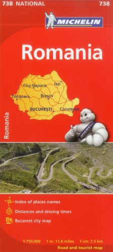 Michelin Romania Map (Michelin Maps) por Michelin