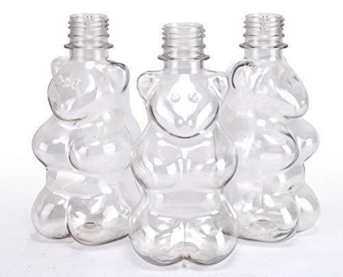 Lickleys 6er Kiste x Form Neuheit Flaschen mit Kappen - schwarz Sportkappe, 6 x Bears with Red Caps