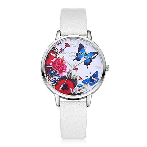 Skang Damen Quarz Uhrwerk, Schmetterling Blume Muster gebraucht kaufen  Wird an jeden Ort in Deutschland