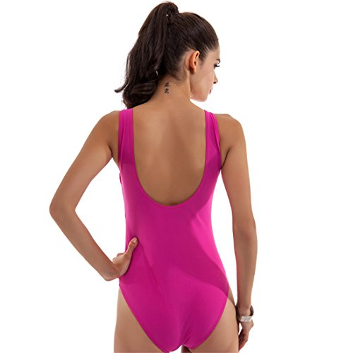 Malloom® Frauen einteilige Badebekleidung Spa gepolsterte Bikini Bademode Bade Badeanzug Pink