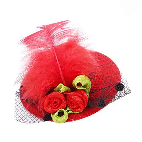 YSINFOD Halloween Top Hut Haarnadel Elegante Hochzeit Bankett Stirnband Topper Party Haarnadel Schmuck Haar Zubehör für Frauen Mädchen