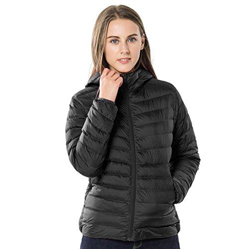 TAK Damen Daunenjacken Übergangsjacke Outdoor Leichte Steppjacke mit Kapuze