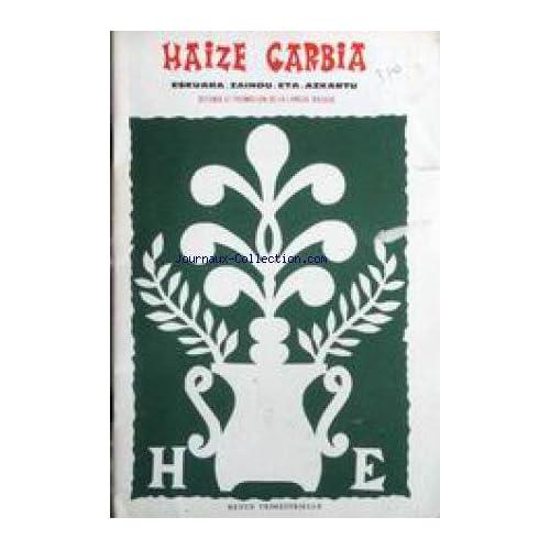 HAIZE GARBIA - DEFENSE ET PROMOTION DE LA LANGUE BASQUE