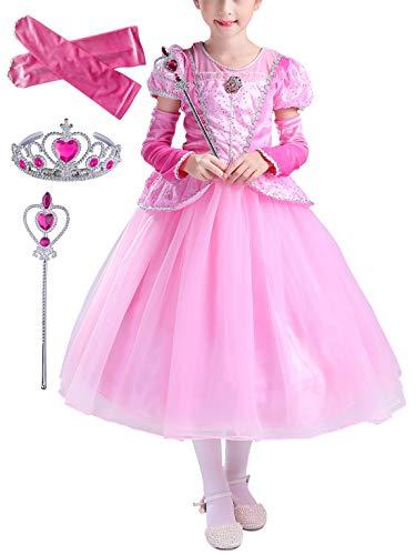 Yonier vestito da principessa costume ragazze halloween party fancy cosplay prom abiti da sposa,feste a tema,compleanni per bambine compleanno fiore nozze elegante pageant battesimo