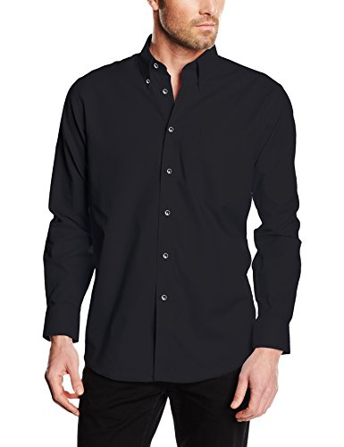 Fruit of the loom oxford-camicia formale uomo, nero, xx-large