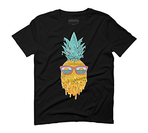 Pineapple summer Men's Graphic T-Shirt - Design By Humans Black