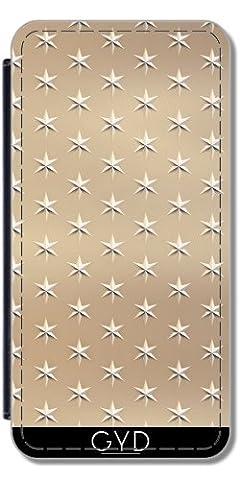 Leder Flip Case Tasche Hülle für Samsung Galaxy A5 2017 (SM-A520) - Elegante Gold-Sterne-Muster by Andrea Haase