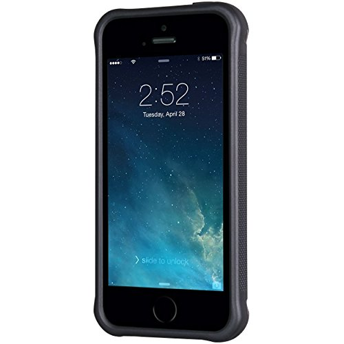 iPhone 55S case, True Color® rilievo stampato resistente agli urti TPU protettiva antiscivolo grip snap-on morbido robusto cover per iPhone 55S [True Impact Series] + pennino e pellicola protettiva  Mint Polka Dots on Chevron