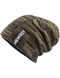 YunYoud Caldo berretto invernale in lana lavorata a maglia all uncinetto  beanie morbide cappello a 097215ffc863