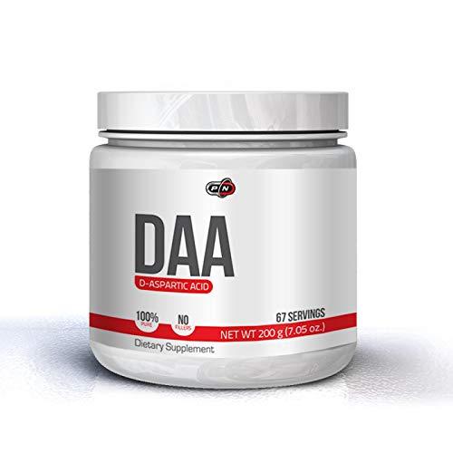 Pure Nutrition DAA D Aspartic Acid D Asparaginsäure Pulver Testosterone Booster 100% Rein Keine Füllstoffe 200 Gramm 67 Portionen