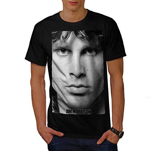 Führen Sänger Jim Morrison Herren L T-shirt | Wellcoda (Authentisch Shirt Von Teppich)
