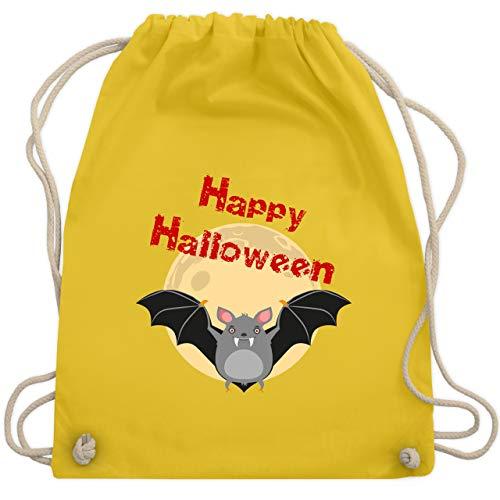 Halloween - Happy Halloween Fledermaus - Unisize - Gelb - WM110 - Turnbeutel & Gym ()