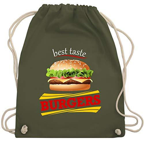 Karneval & Fasching - Burger Kostüm - Unisize - Olivgrün - WM110 - Turnbeutel & Gym Bag (Burger Erwachsene Kostüme)
