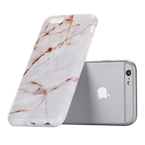 "iPhone 6 6S Coque , YIGA Motif Marbre Naturel Noir Premium Souple Silicone TPU case Etui Protection Housse pour Apple iPhone 6 6S 4.7"" A-6G-KM10"