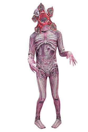 Kostüm Jumpsuit Horror - RedJade Stranger Things Season 3 Demogorgon Horror Overall Jumpsuit Outfit Cosplay Kostüm Herren XL