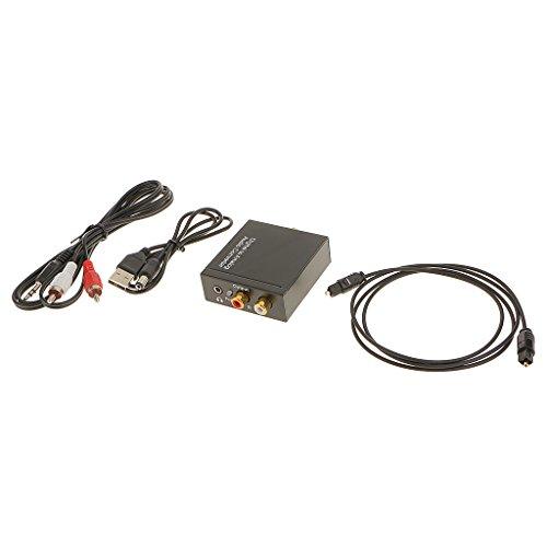 MagiDeal Digitale Coassiale Toslink Ottico Analogico L/R Adattatore Convertitore Audio RCA